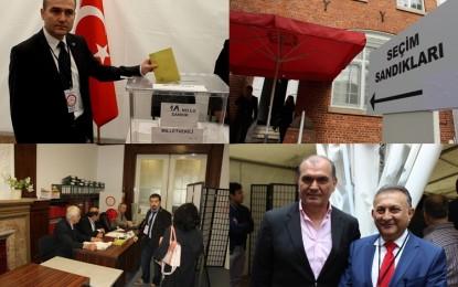 Hamburg'da sandıklar kuruldu! Oy verme işlemi başladı VİDEOLU