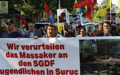 """Hamburg """"Suruç Katliamını"""" lanetledi! VİDEOLU İZLE"""