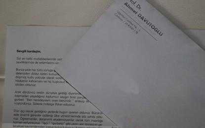 Davutoğlu'nun Gurbetçilere seçim mektubu tartışılıyor! ÖZEL HABER