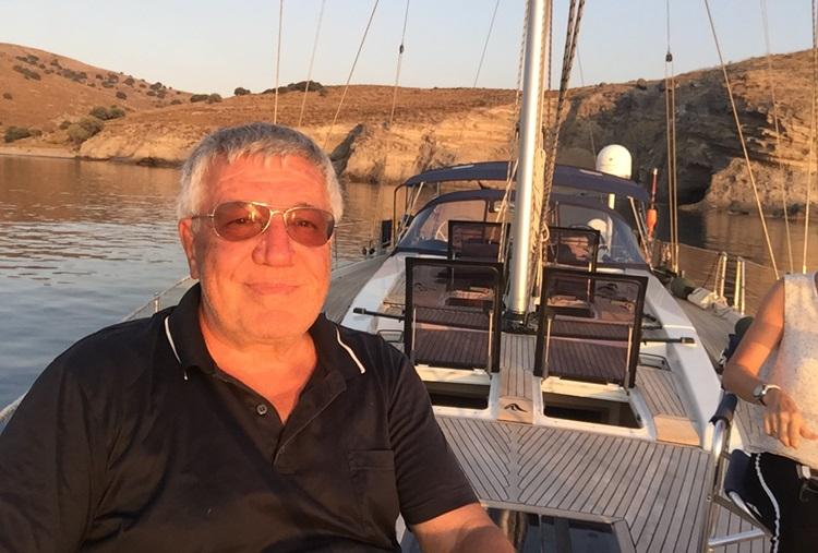 Kadir Ugur an Bord der Benswiss Yacht