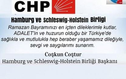 CHP Hamburg'dan Bayram Mesajı