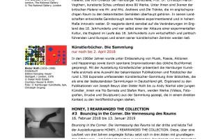 Hamburger Kunsthalle – Monatsvorschau März 2018 mit Ausblick auf April 2018