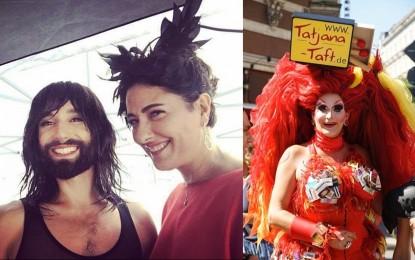 Hamburg Gay Pride'da Meltem Cumbul  ve Conchita Wurst rüzgarı