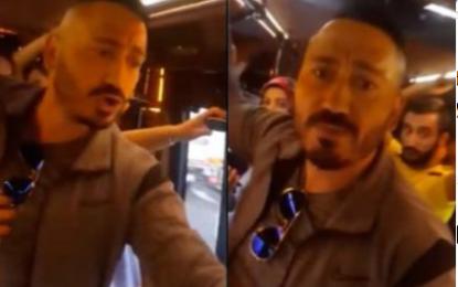 Kadın yolcuya küfür edip saldırı! İZLE